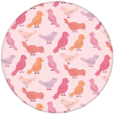 """Rosa Design Tapete """"Alle Vöglein"""" mit einem Schwarm bunter Vögel Wandgestaltung Küche"""