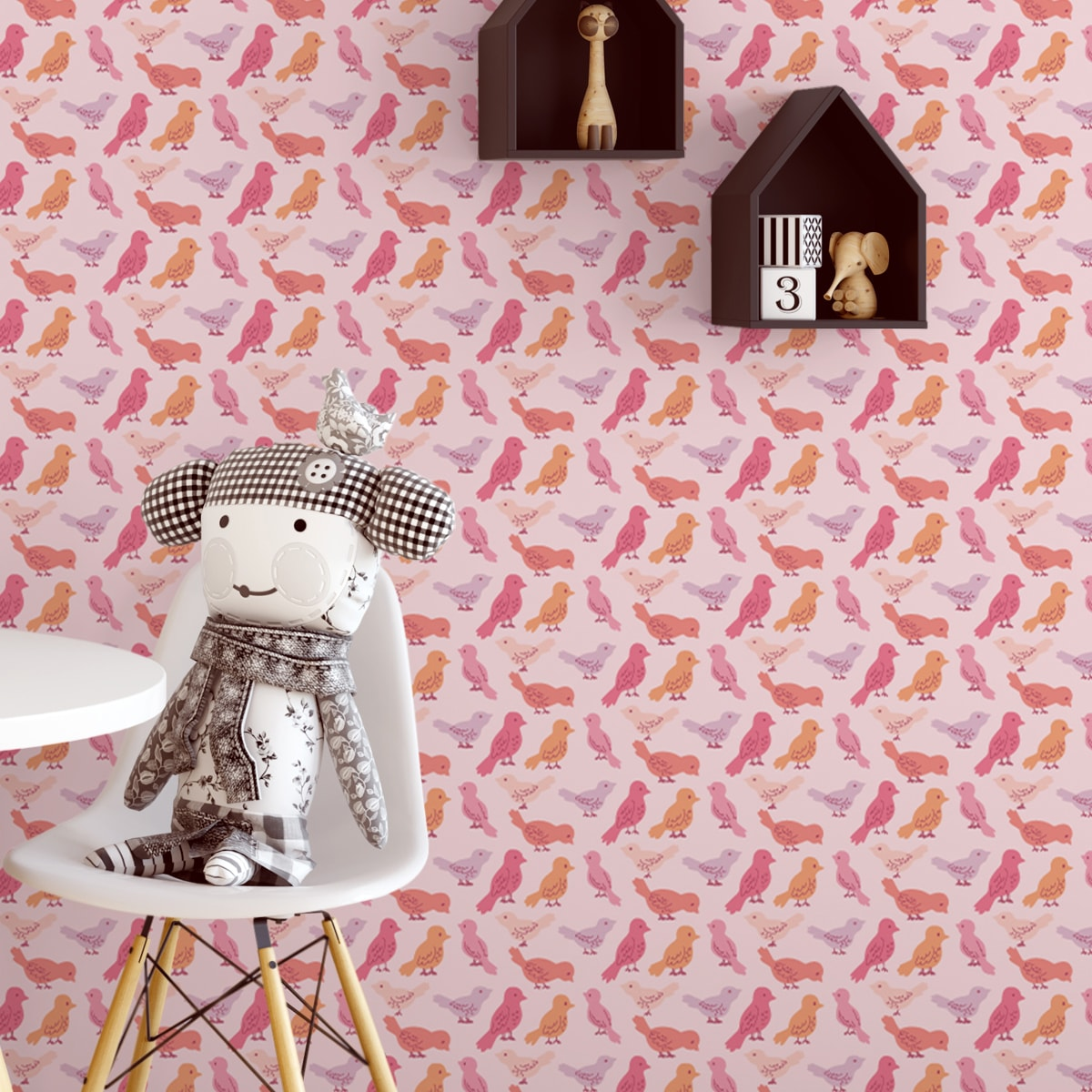 Küchentapete pink: Rosa Design Tapete