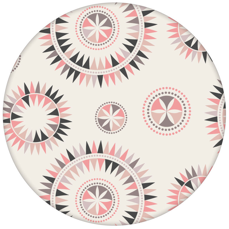"""Nordische Tapete """"Windrose"""" mit modernem Design, rosa Wandgestaltung aus den Tapeten Neuheiten Exklusive Tapete für schönes Wohnen als Naturaltouch Luxus Vliestapete oder Basic Vliestapete"""