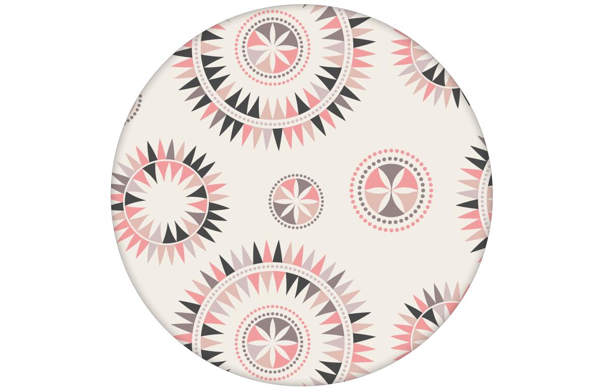 """Nordische Tapete """"Windrose"""" mit modernem Design, rosa Wandgestaltung"""
