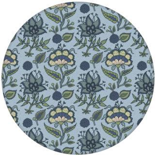 """Folklore Tapete """"Little India"""" mit indischem Blumen Muster in blau grau für Schlafzimmer aus den Tapeten Neuheiten Exklusive Tapete für schönes Wohnen als Naturaltouch Luxus Vliestapete oder Basic Vliestapete"""