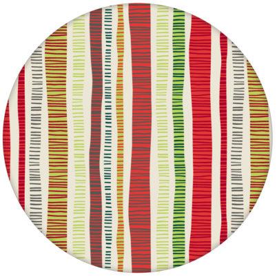 """Schicke Streifen Tapete """"Dotted Lines"""" in rot grün für Küche Flur Büro"""