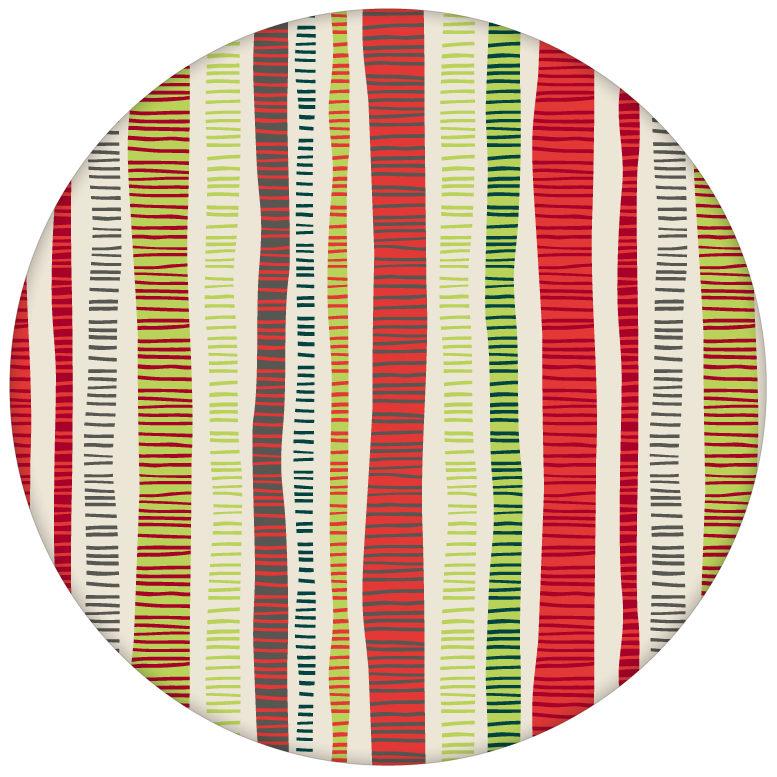 """Schicke Streifen Tapete """"Dotted Lines"""" in rot grün für Küche Flur Büroaus dem GMM-BERLIN.com Sortiment: rote Tapete zur Raumgestaltung: #FarrowandBall #Grafik #modern #streifen #tapete für individuelles Interiordesign"""