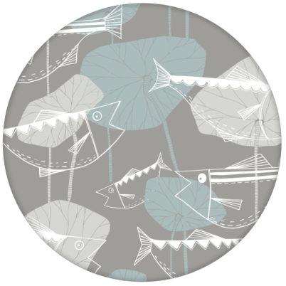 """Helle Fisch Tapete """"Angler Glück"""" im Stil der 70er Wandgestaltung beige grau aus den Tapeten Neuheiten Exklusive Tapete für schönes Wohnen als Naturaltouch Luxus Vliestapete oder Basic Vliestapete"""