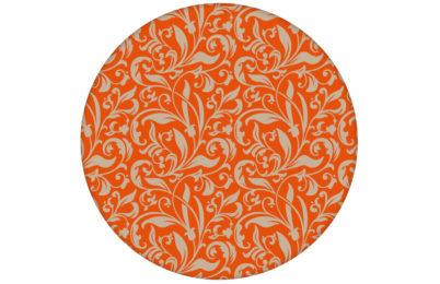 """Schöne Tapete """"Victorian Delight"""" mit victorianischem Blatt Muster orange angepasst an Schöner Wohnen Wandfarben"""