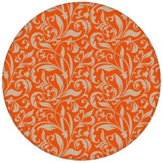 """Schöne florale Tapete """"Victorian Delight"""" mit victorianischem Blatt Muster, orange Wandgestaltungaus dem GMM-BERLIN.com Sortiment: orange Tapete zur Raumgestaltung: #blumen #Grafik #orange #ornamente #Schöner Wohnen #tapete für individuelles Interiordesign"""