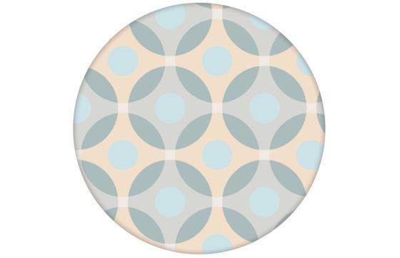 """Moderne """"Flower Dots"""" Tapete mit großen Punkten, beige Wandgestaltung"""