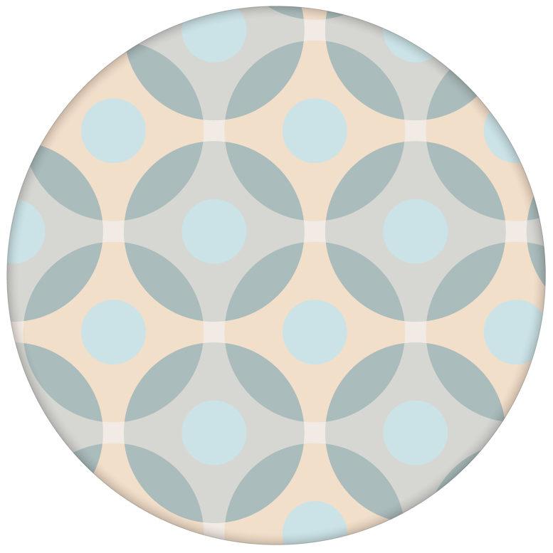 """Moderne """"Flower Dots"""" Tapete mit großen Punkten, beige Wandgestaltung aus den Tapeten Neuheiten Exklusive Tapete für schönes Wohnen als Naturaltouch Luxus Vliestapete oder Basic Vliestapete"""