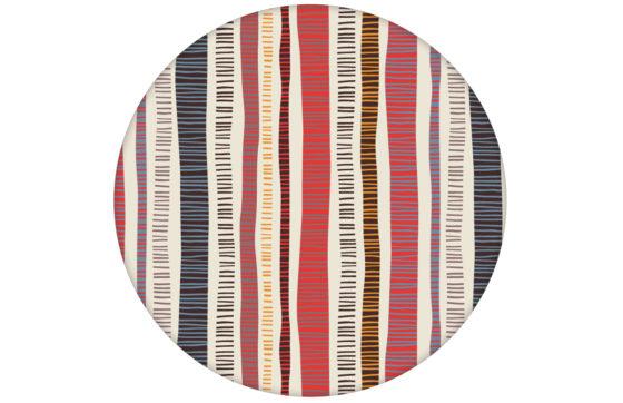 """Erfrischende Streifen Tapete """"Dotted Lines"""" in rosa grau moderne Wandgestaltung"""