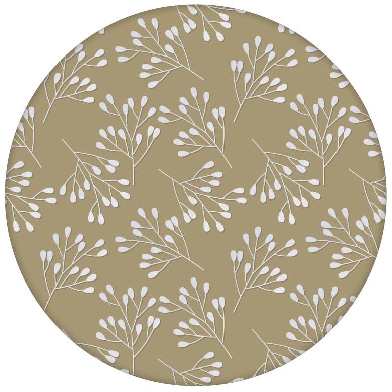 """Moderne Tapete """"Blüten Dolden"""" mit grafisch, elegant, beige"""