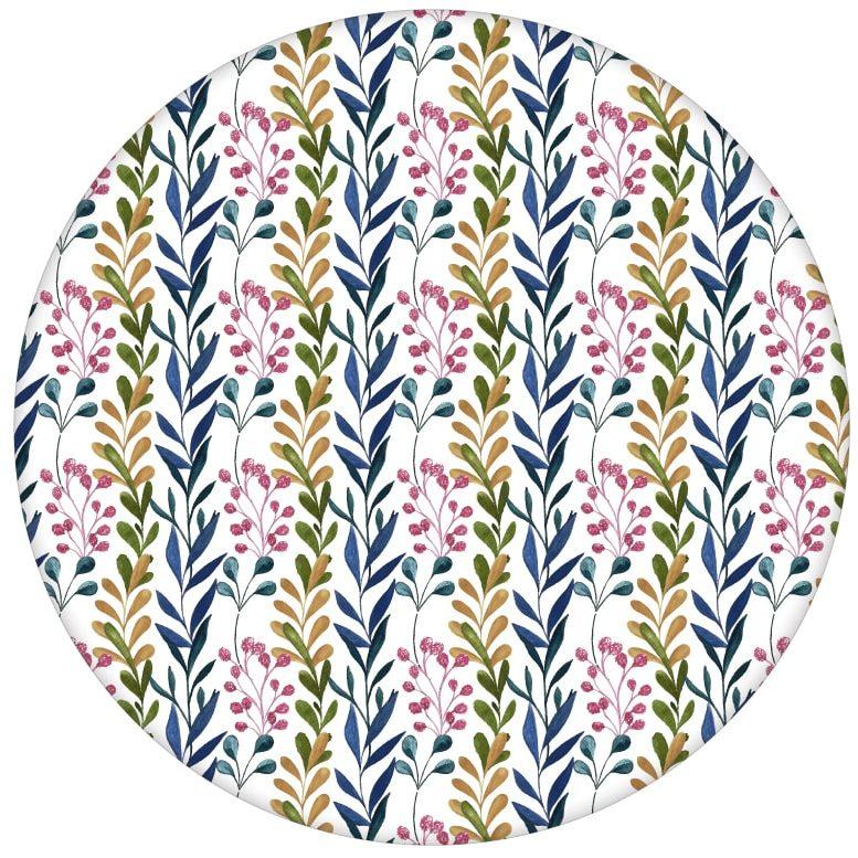 """""""zarte Laub Streifen"""" Streifentapete mit gemalten Blättern"""