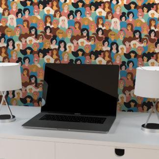 "Design Tapete ""The future is female"" coole Wandgestaltung"