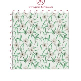"Grüne Tapete ""Orchid Garden"" mit Orchideen Blüten"