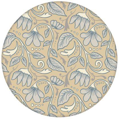 """Feine Jugendstil Blumen Tapete """"Fleur Arabesque"""" mit Blüten Ranken in beige"""