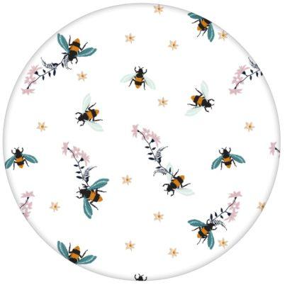 """Edle Bienen Tapete """"Bienenstich"""" in Stick Optik für Schlafzimmer"""