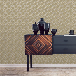 """Moderne Tapete """"Blüten Dolden"""" mit grafisch beige Design Wandgestaltung"""