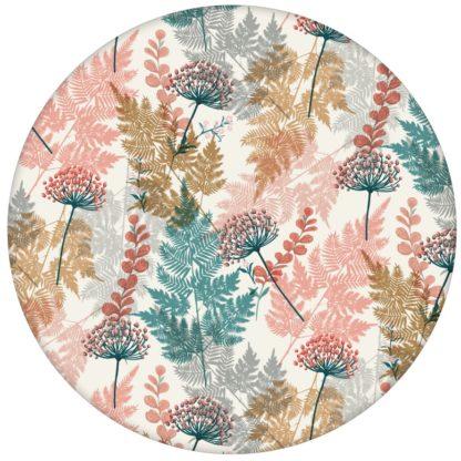 """Florale Tapete """"Waldesruh"""" mit Farn - florale zarte botanische Wandgestaltung"""