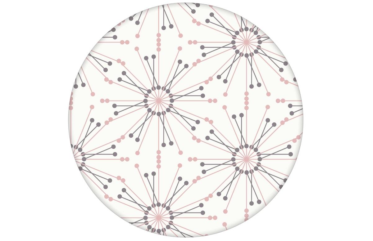 "Moderne Tapete ""Sonnenstern"" in rosa Design Wandgestaltung"