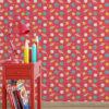 Kindertapete rot: Kinderzimmer Kindertapete