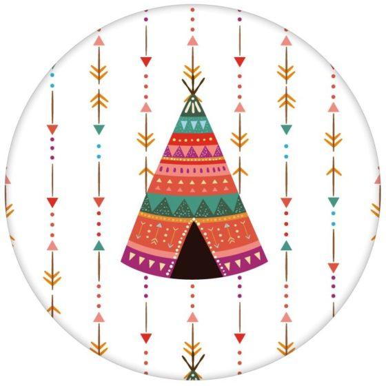 """Bunte Indianer Streifentapete """"Powwow"""" mit Pfeilen und Wigwam"""