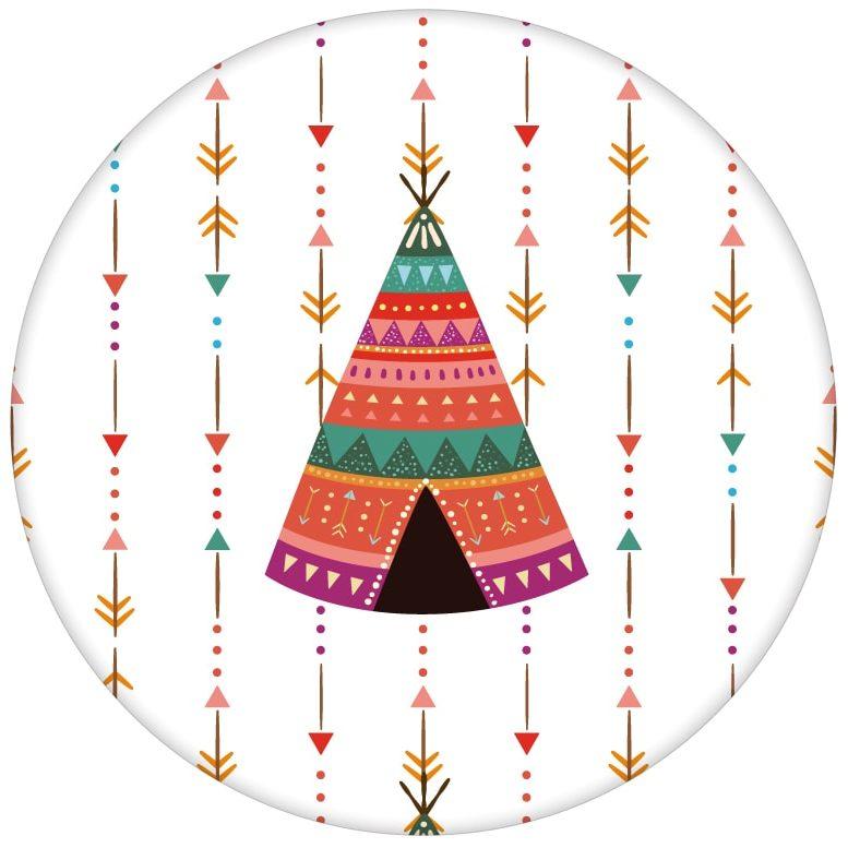 """Bunte Indianer Streifentapete """"Powwow"""" mit Pfeilen und Wigwamaus dem GMM-BERLIN.com Sortiment: weisse Tapete zur Raumgestaltung: #Ambiente #bunt #Indianer #interior #interiordesign #kinder #Pfeile #Stil #streifen #Wigwam für individuelles Interiordesign"""