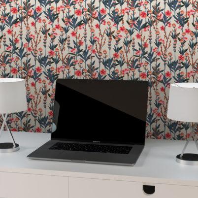 """Florale Tapete """"Mein schöner Garten"""" mit Oleander Wohnzimmer Wandgestaltung"""