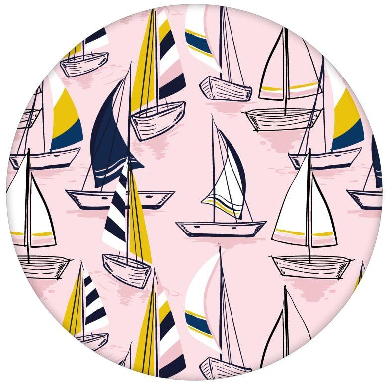 """Rosa Frische Segler Design Tapete """"Lago Maggiore"""" mit Booten aus den Tapeten Neuheiten Borten und Tapetenmotive als Naturaltouch Luxus Vliestapete oder Basic Vliestapete"""