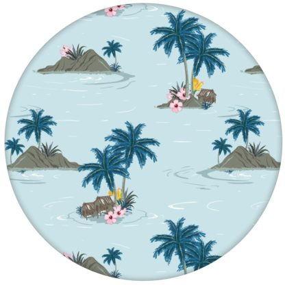 """Vintage Ferien Vliestapete """"Aloha"""" mit Hawaii Inseln und Blüten aus den Tapeten Neuheiten Borten und Tapetenmotive als Naturaltouch Luxus Vliestapete oder Basic Vliestapete"""