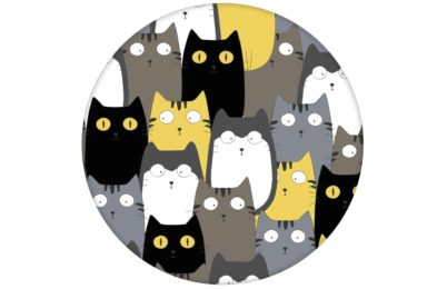 """Komische Kinderzimmer Tapete """"Nachbars Katzen"""" für Jungen und Mädchen"""
