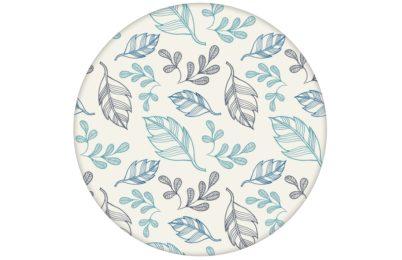 """Designer Tapete """"Blätterrauschen"""" modern, grafisch, leicht in blau"""