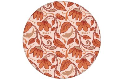 """Jugendstil Tapete """"Fleur Arabesque"""" mit Blüten Ranken in orange"""