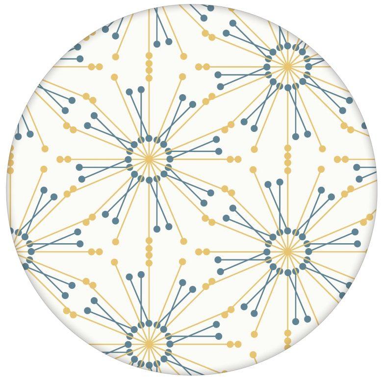 """Design Tapete """"Sonnenstern"""" in gelb grafische Wandgestaltung"""
