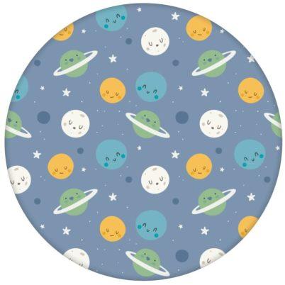 """Kinderzimmer Tapete """"Planeten Zauber"""" blau für Astronauten Weltraum Fans"""