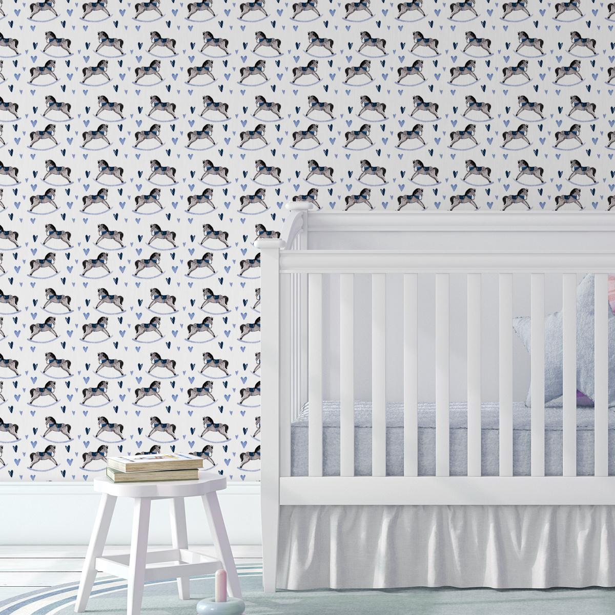 Kindertapete weiss: Baby Kinderzimmer Tapete