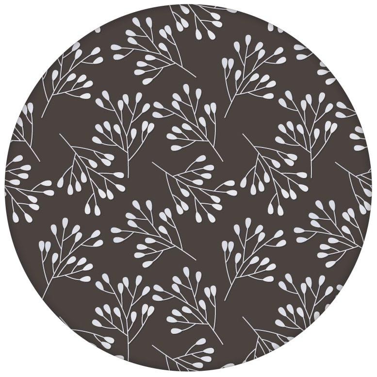"""Braune florale Tapete """"Blüten Dolden"""" mit grafischer Eleganz aus den Tapeten Neuheiten Blumentapeten und Borten als Naturaltouch Luxus Vliestapete oder Basic Vliestapete"""