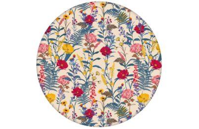 """Country Tapete, gelb beige """"Landblumen"""" mit Bauern Garten Blüten angepasst an Liitle Greene Farben"""