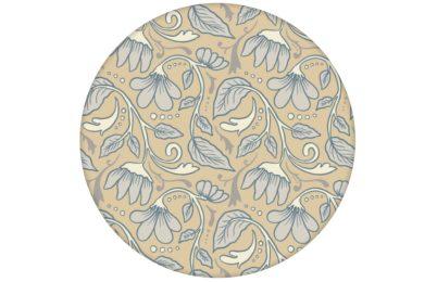 """Feine Jugendstil Tapete """"Fleur Arabesque"""" mit Blüten Ranken in beige angepasst an Little Greenel Wandfarben"""