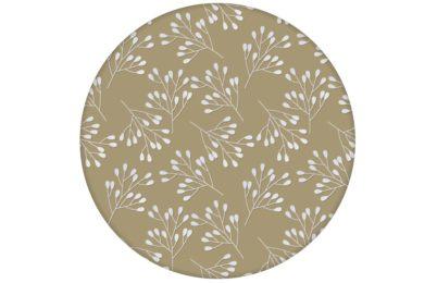 """Moderne Tapete """"Blüten Dolden"""" mit grafischer Eleganz in beige"""