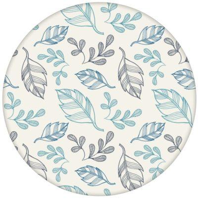 """Design Tapete """"Blätterrauschen"""" modern, grafisch, leicht in blau"""