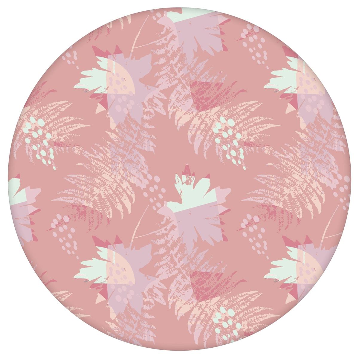 Blumentapete Wildflowers im Retro Look in rosa - florale Tapete für Wohnzimmeraus dem GMM-BERLIN.com Sortiment: rosa Tapete zur Raumgestaltung: #70s #Ambiente #Blätter #Farn #interior #interiordesign #rosa Tapeten #wohnzimmermodern für individuelles Interiordesign