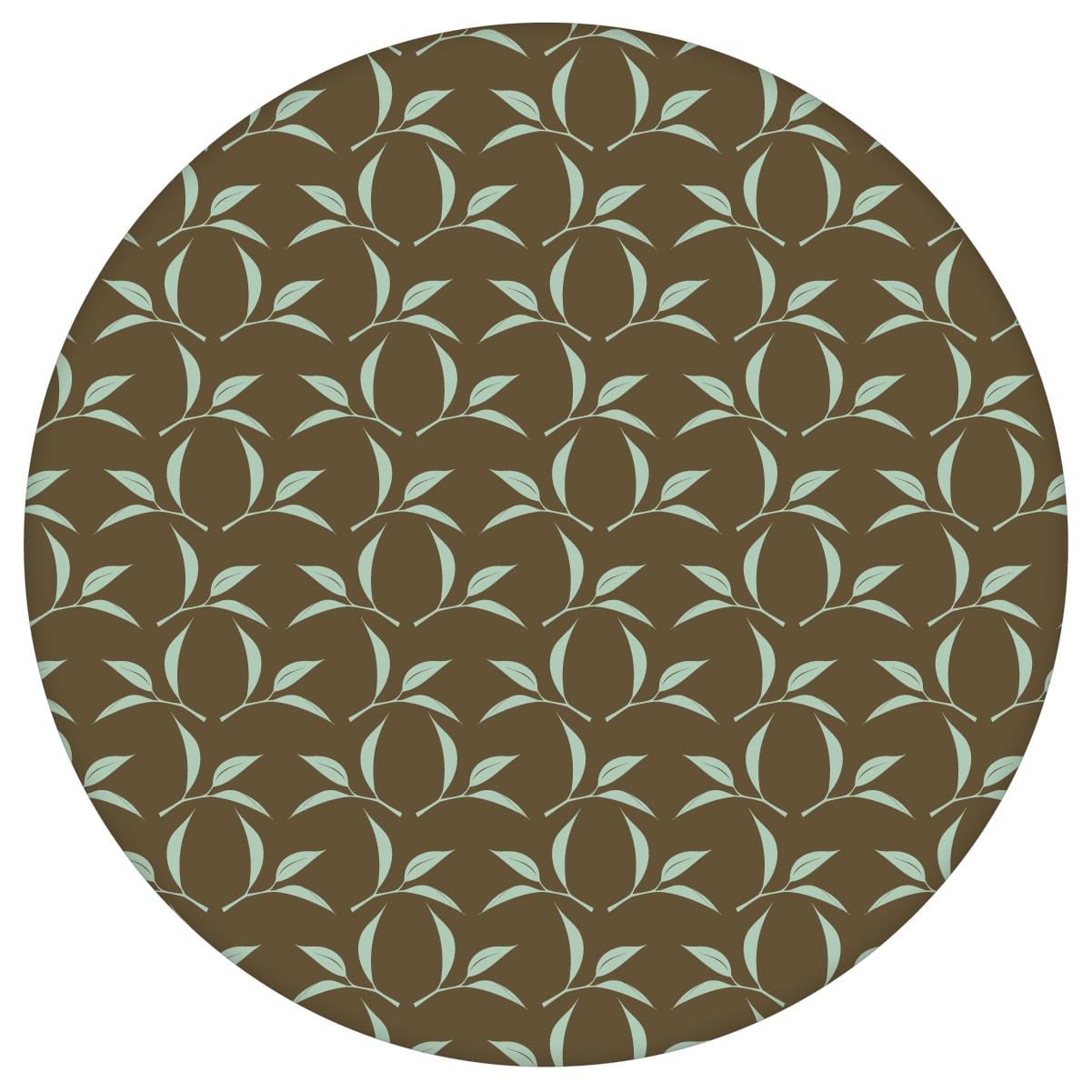 Ornamenttapete Tea Time mit Tee Blättern in braun - Design Tapete für Wohnzimmeraus dem GMM-BERLIN.com Sortiment: braune Tapete zur Raumgestaltung: #Ambiente #Blätter #Braune Tapeten #interior #interiordesign #Tee #wohnzimmerGrafik für individuelles Interiordesign