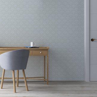 Tapete Wohnzimmer hellblau: Ornamenttapete florales Damast Muster klassisch in hellblau - Design Tapete für Wohnzimmer