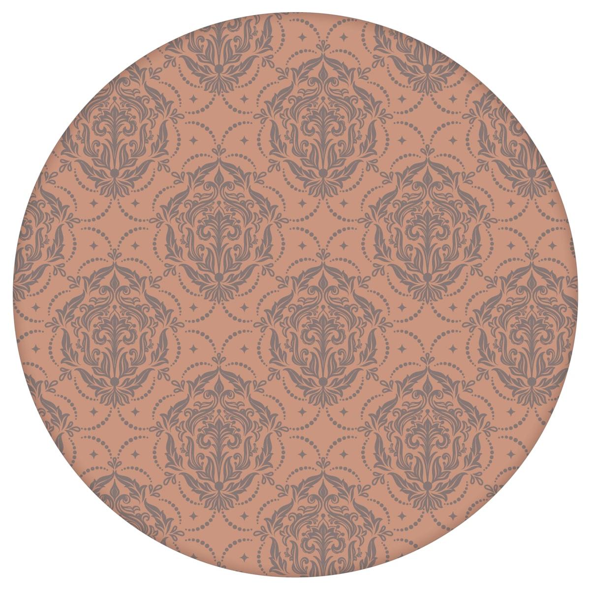 My Castle Ornamenttapete Damast Muster in braun - Design Tapete für Wohnzimmer 1