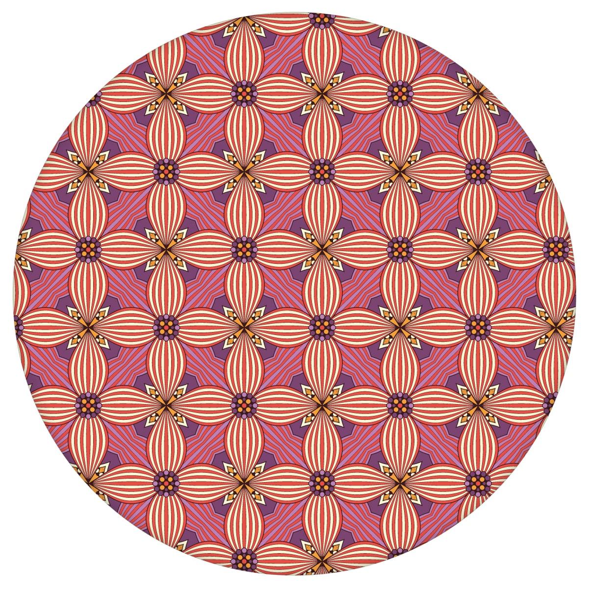 Ornamenttapete Art Deko Lilly Retro Muster in lila - Design Tapete für Wohnzimmeraus dem GMM-BERLIN.com Sortiment: rosa Tapete zur Raumgestaltung: #00120 #Ambiente #Art Deko #blueten #blumen #Grafik #interior #interiordesign #Violette Tapeten #Wohnzimmer für individuelles Interiordesign