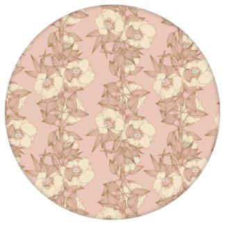 Blumentapete Garten Eden Blüten Ranken in altrosa - Design Tapete für Wohnzimmer aus den Tapeten Neuheiten Blumentapeten und Borten als Naturaltouch Luxus Vliestapete oder Basic Vliestapete