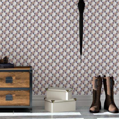 Tapete Wohnzimmer weiss: Blumentapete Classic Bouquet Blümchen Tapete in weiß - Nostalgietapete für Wohnzimmer