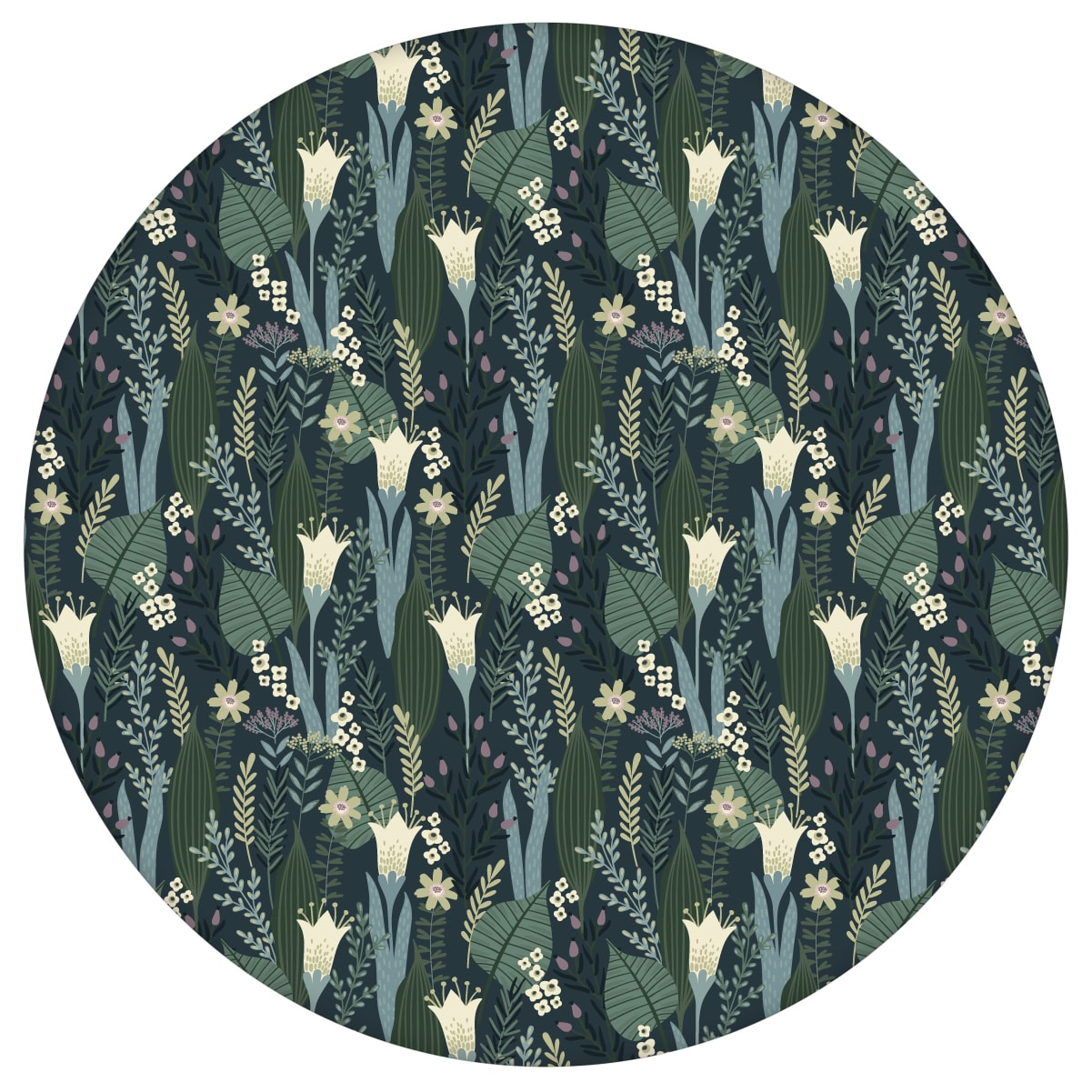 Blumentapete Wellness für die Augen in blau grün - Design Tapete für Wohnzimmer