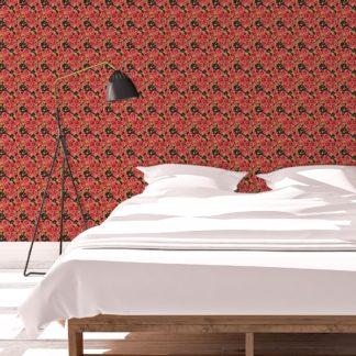 Landhaus Blumentapete Shabby Flowers shabby chic auf braun schwarz - Vliestapete für Wohnzimmer