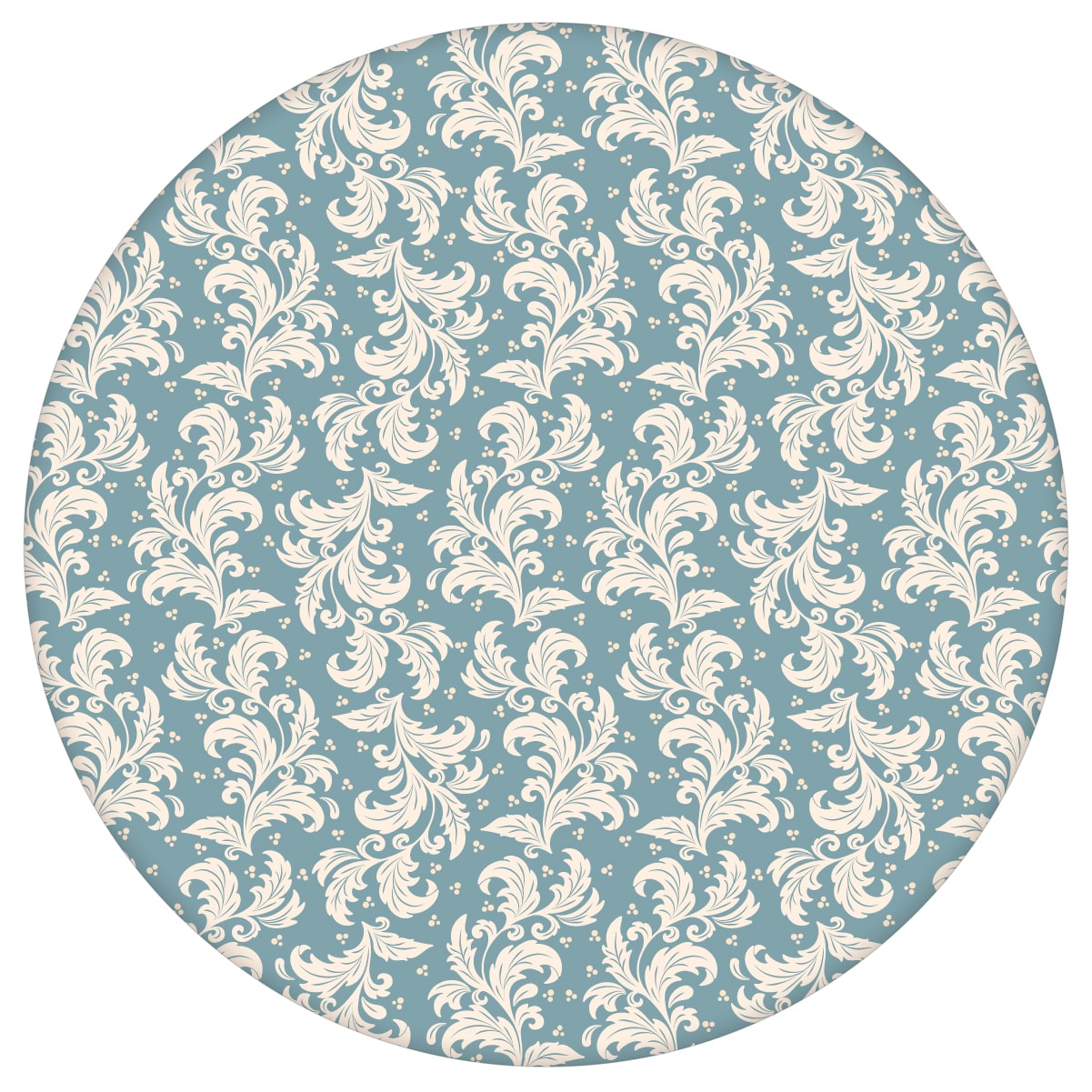 Ornamenttapete Nostalgie Ranken mit Blatt Muster in hellblau - Vlies Tapete Ornamente für Wohnzimmer