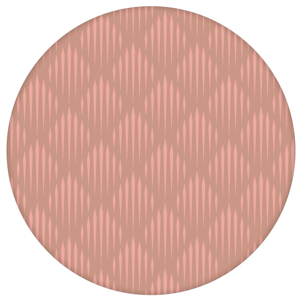 Art Deko Diamant Design Tapete mit grafischer Eleganz in altrosa - Ornamenttapete für Schlafzimmer 2